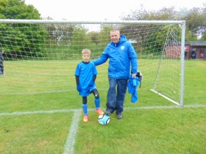 Coach Mike and Euan